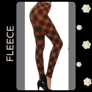 NWT Orange&BlackFleece-LinedLeggings