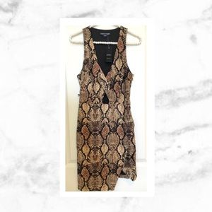 bebe Dresses & Skirts - Bebe Snakeskin Print Moss Crepe Dress