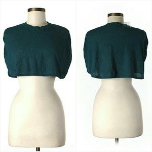 Tulle Sweaters - *Sale* NWT S/M Teal Shrug Poncho Cropped Sweater