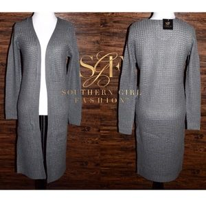 Southern Girl Fashion Sweaters - SWEATER CARDIGAN Draped Loose Knit Slouchy Jacket