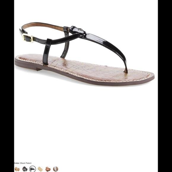 b48f8297b  242🐶🦃 Sam Edelman GIGI sandal in BLACK patent