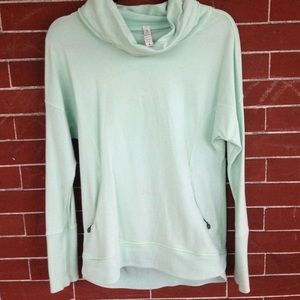 Lululemon light green cowl neck sweatshirt.