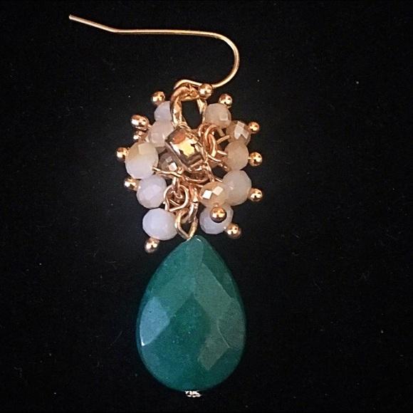 Jewelry - 🌎👂🏼Hunter Green Cluster Teardrop Earrings