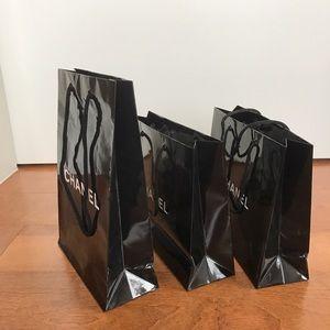 5eb3984cc099 CHANEL Other | 3 Three Black Paper Bag Small Size Makeup | Poshmark