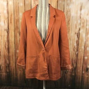 Divided Jackets & Blazers - Divided H&M Oversized BF Blazer Orange Collared