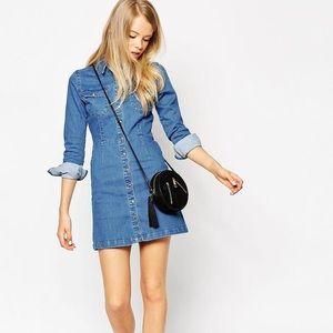 ASOS Dresses & Skirts - ASOS size 4 denim button up dress