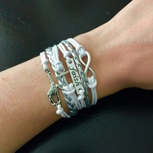 Jewelry - White and silver bracelet bundle