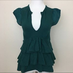 Urban Outfitters Tops - Pins and Needles Layered Knit Top, Teal, Size 5
