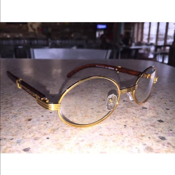 282ba578eae Vintage Gold Frames Clear Round Oval Glasses. M 583f5cf4f09282724e001e45