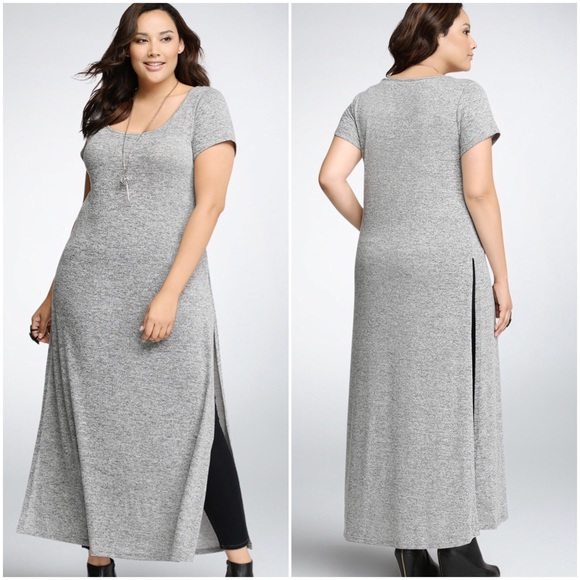 b7bcb32ede7 Torrid Side Slit Maxi Sweater Dress. M 583f5d0d291a3564710017b7
