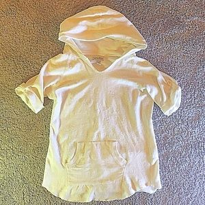 Lucky Brand short sleeve embroidered hoodie small
