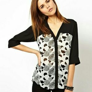 ASOS Tops - [ASOS] Blouse with Color Block Panels