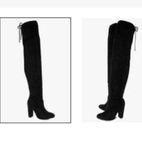 20105461895 Boohoo Shoes - Block heel over the knee boots