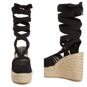 Jeffrey Campbell Shoes - Jeffrey Campbell 'Libra' Black Lace up Sandal