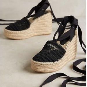 Jeffrey Campbell 'Libra' Black Lace up Sandal