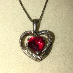Kay Jewelers Jewelry - 🆕 Ruby and diamond heart necklace
