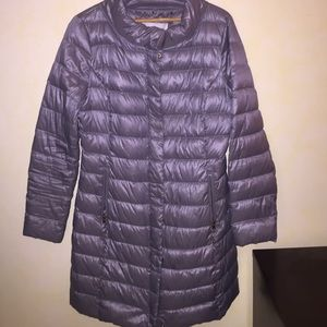 T Tahari long puffer coat