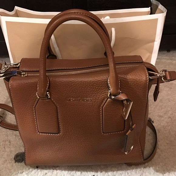 aecb5929587d Michael Kors Selby Medium Leather Satchel Walnut. M_583f725756b2d63050001256