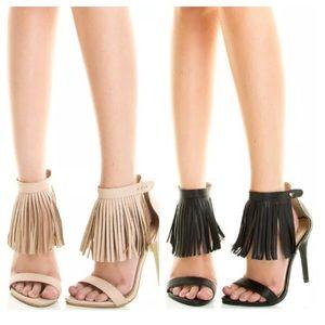 Shoes - HP🎉3/15/17 👠Stiletto fringe sandals