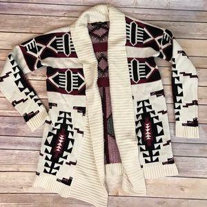 Aztec Indian Print Cardigan shrug