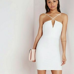 Missguided white dress sz 4 us nwt