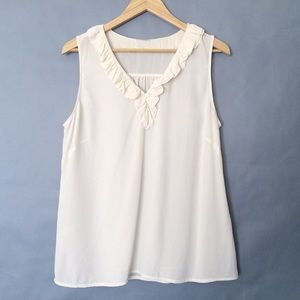 Vintage 100% fine silk sleeveless blouse tank top