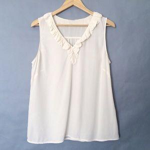 Vintage 100% fine silk sleeveless blouse tank top