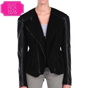 Blank NYC Jackets & Blazers - Final Price BlankNYC Wool/ Faux Leather Jacket