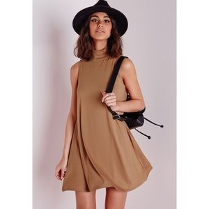 Camel Suede Swing Dress