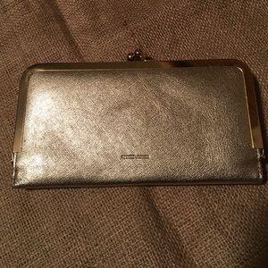 new directions Handbags - Kisslock Gold Clutch