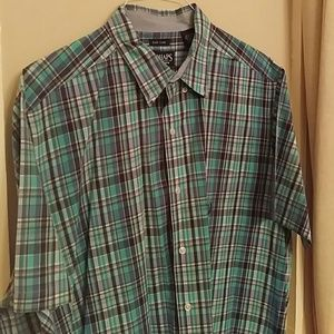 Chaps Other - Men's Chaps Short Sleeve Button Down