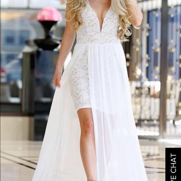 fcbc4f1898 Ark & Co Dresses & Skirts - White/Cream Lace & Chiffon Maxi Dress