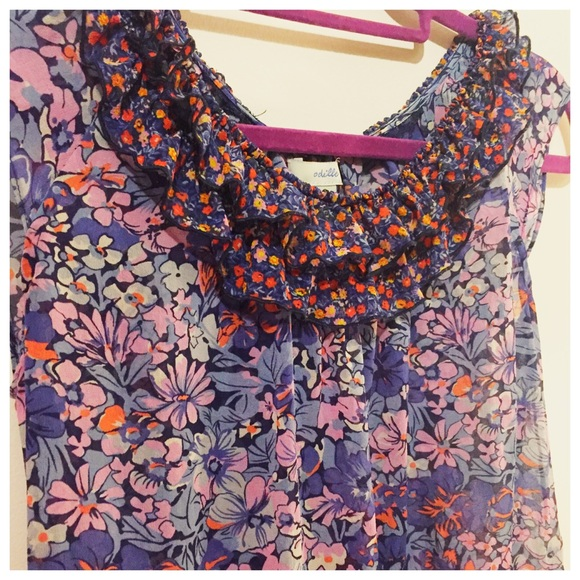 Anthropologie Tops - 🎈Final price- Anthro Odille Silk Floral Top