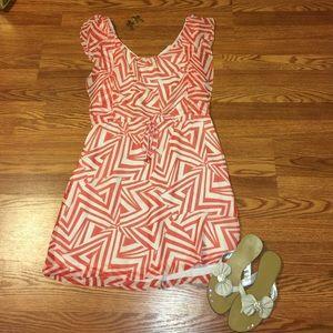 Orange & Cream colored dress