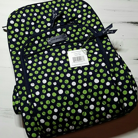 Vera Bradley Bags   Sale Lg Campus Backpack Lucky Dots   Poshmark aaac3c711f