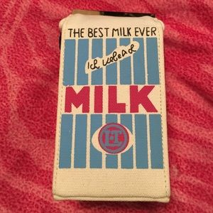 A cute little milk carton purse.