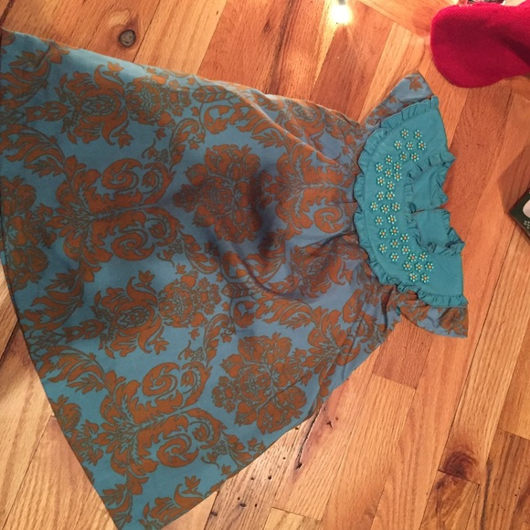 Trish Scully Other - Trish Scully 24 mos worn once teal, copper dress.