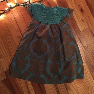 Trish Scully Dresses - Trish Scully 24 mos worn once teal, copper dress.