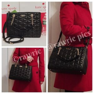 New Kate Spade quilted leather crossbody tote