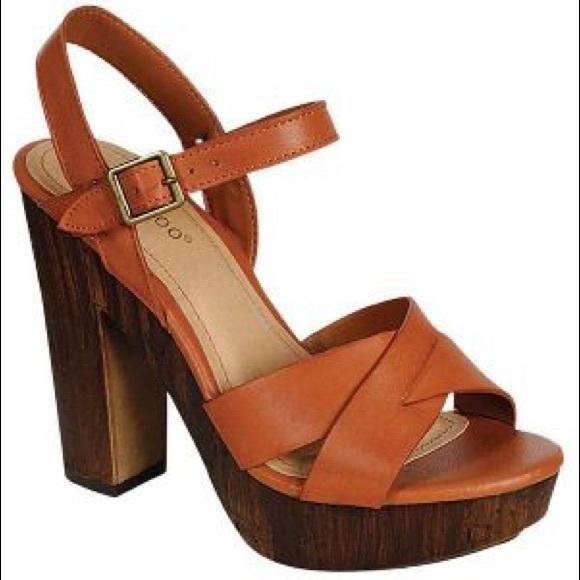 86371283d57f Bamboo Shoes - Bamboo Fabiola Crossband Wooden Heels