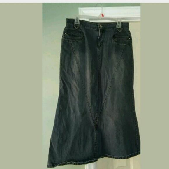 defuze - Defuze Long Jean Skirt Junior Size 13/14 from Porsha's ...