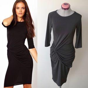 ASOS Dresses & Skirts - ASOS River Island Black Twist Front Drape Dress