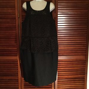 Plus size Black peplum cocktail dress