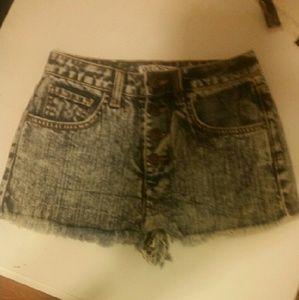 Wildfox acid wash shorts
