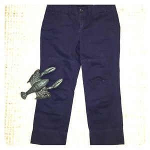 G1 Goods Pants - Anthropology G1 Goods navy wide leg cotton pants