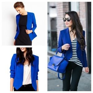 DIVIDED by H&M bright blue blazer