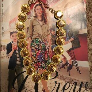 Jumbo yellow brûlée necklace