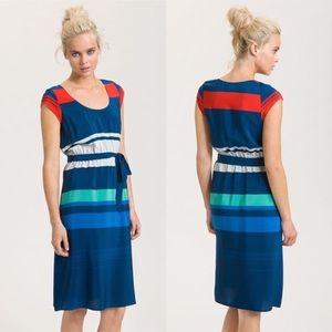 Presley Skye Stripe Silk Dress