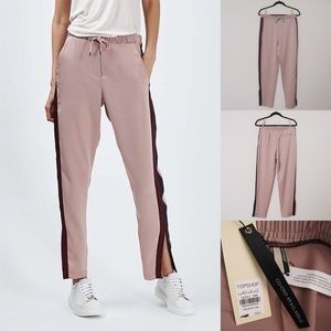 Topshop Satin Cuffless Jogger Pants