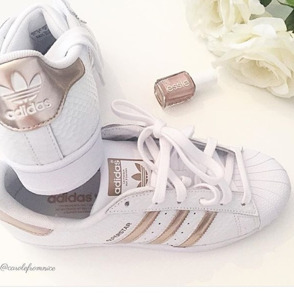 Adidas superstar metal toe(rose gold) Adidas rose gold t shirt Michael